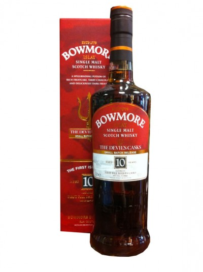 Bowmore The Devils Cask (Islay) limited Release III 10 Jahre / Alk. 57% , Inhalt 0.7L (355,71 € pro L)